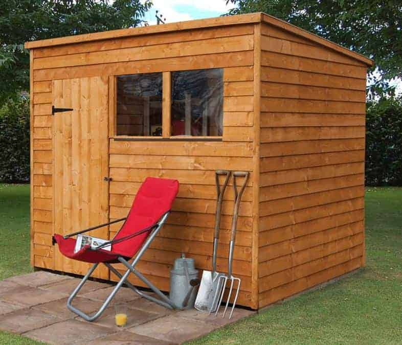 6' x 8' Forest Overlap Pent Pressure Treated Wooden Shed (1.88m x 2.39m)