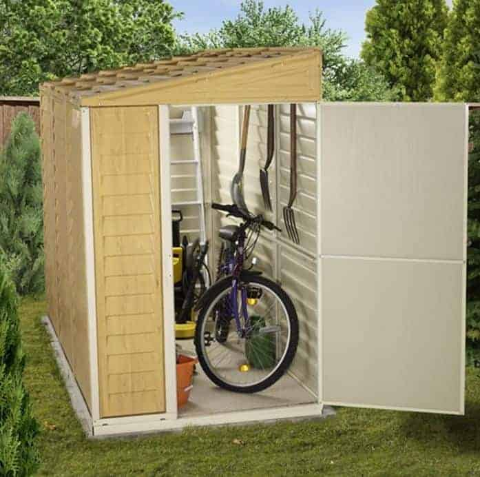 BillyOh Newport Lean To Plastic Shed Light Grey With Floor