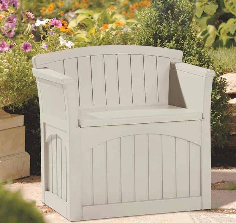 2' x 2' (0.78 x 0.53m) Suncast Patio Storage Seat - Plastic Garden Storage