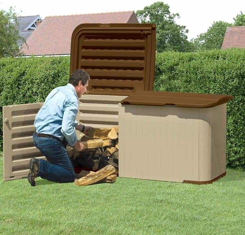 7'4 x 3'1 Suncast Resin Kensington Five Store - Plastic Garden Storage