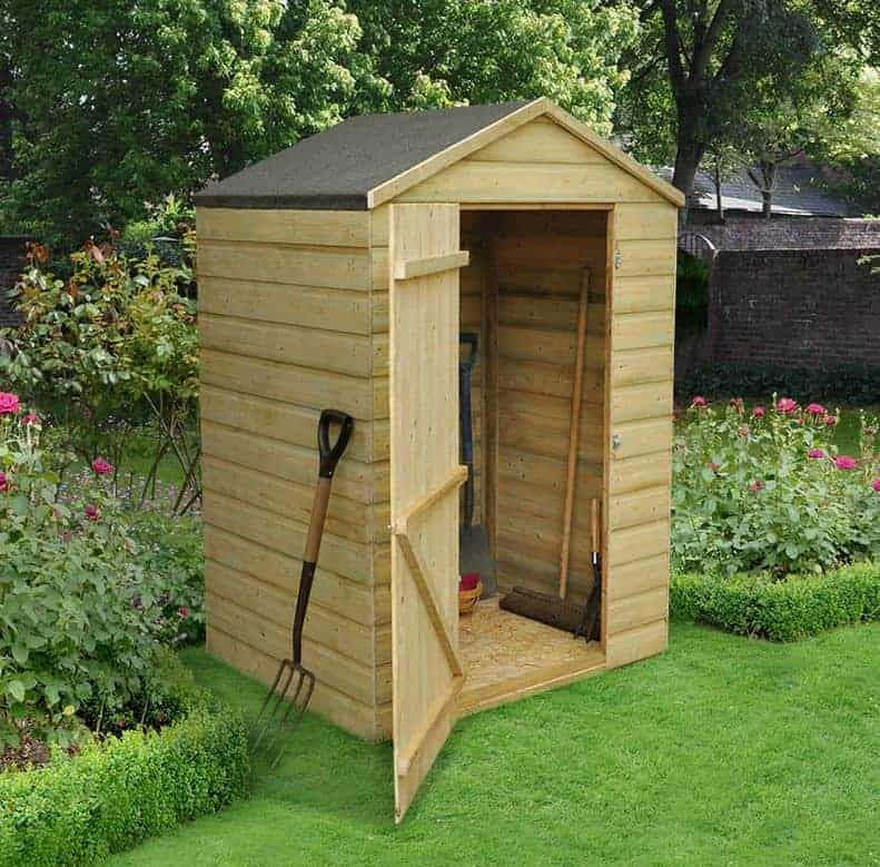 4' x 3' Forest Overlap Apex Pressure Treated Wooden Windowless Shed (1.32m x 0.92m)