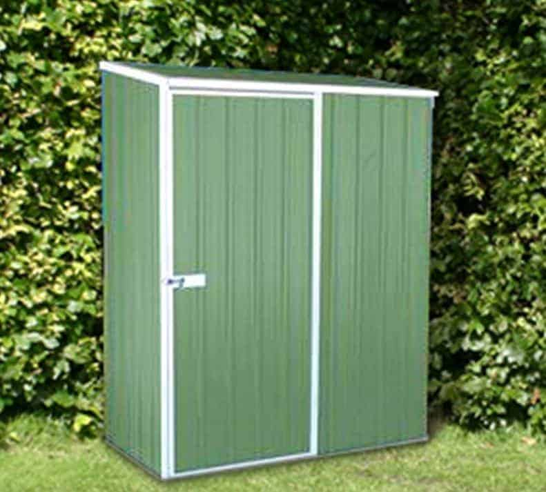 5' x 2'7 Absco Easy Store 1PE Green Metal Garden Shed (1.52m x 0.78m)