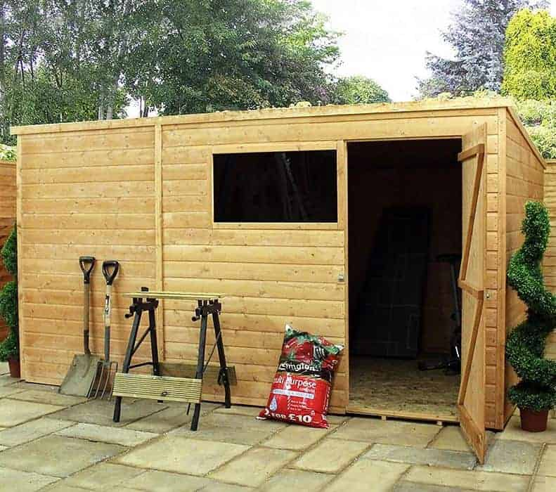 10' x 6' Forest Overlap Pent Pressure Treated Wooden Shed (3.11m x 1.88m)
