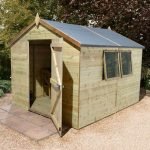 Pre Built Shed - 12 x 10 Shed-Plus Champion Heavy Duty Apex Single Door Pre Built Shed