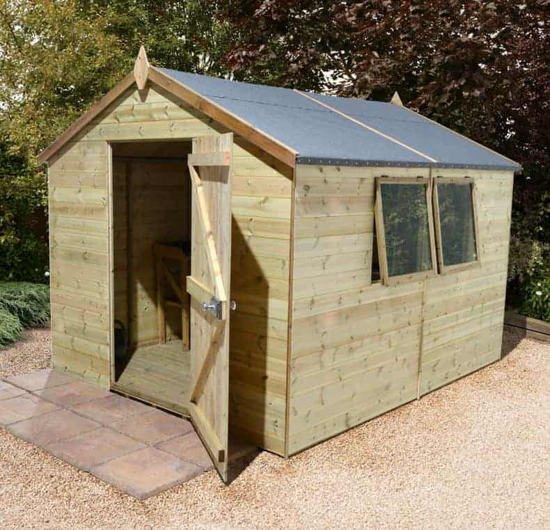 12' x 10' Shed-Plus Champion Heavy Duty Apex Single Door Shed (3.66m x 3.05m)