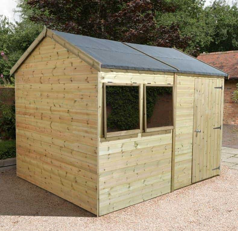 12' x 10' Shed Republic Ultimate Heavy Duty Rev Apex Workshop - Single Door (3.66m x 3.05m)