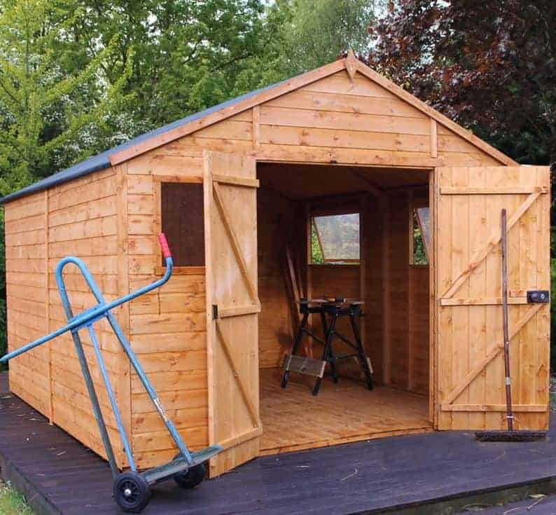 12' x 10' Windsor Groundsman Wooden Workshop Shed (3.65m x 3.18m)