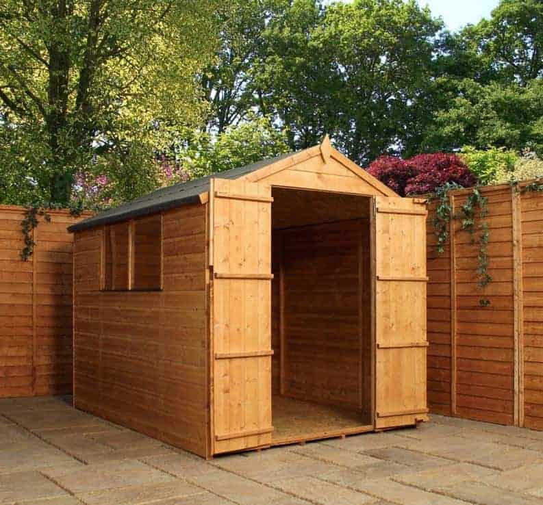 8' x 6' Windsor Double Door Shiplap Wooden Garden Shed (2.37m x 1.79m)