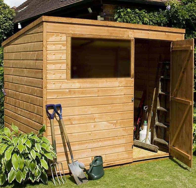 6' x 8' Windsor Multi-Purpose Pent Wooden Garden Shed (1.80m x 2.38m)