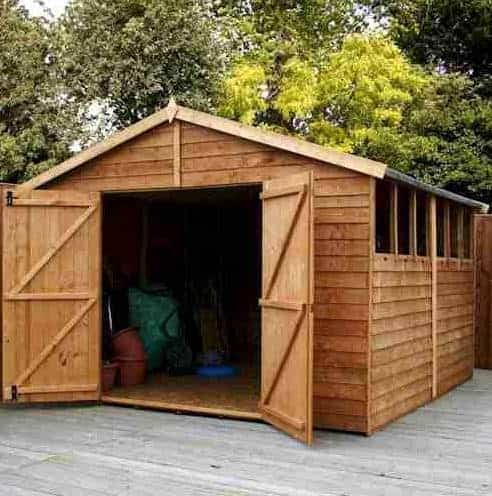 10' x 10' Windsor Overlap Modular Wooden Workshop Shed (3.09m x 3.03m)