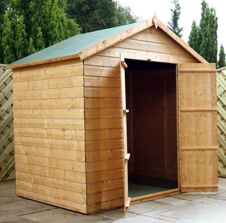 5' x 7' Windsor Modular Shiplap Wooden Garden Windowless Shed (1.56m x 2.32m)