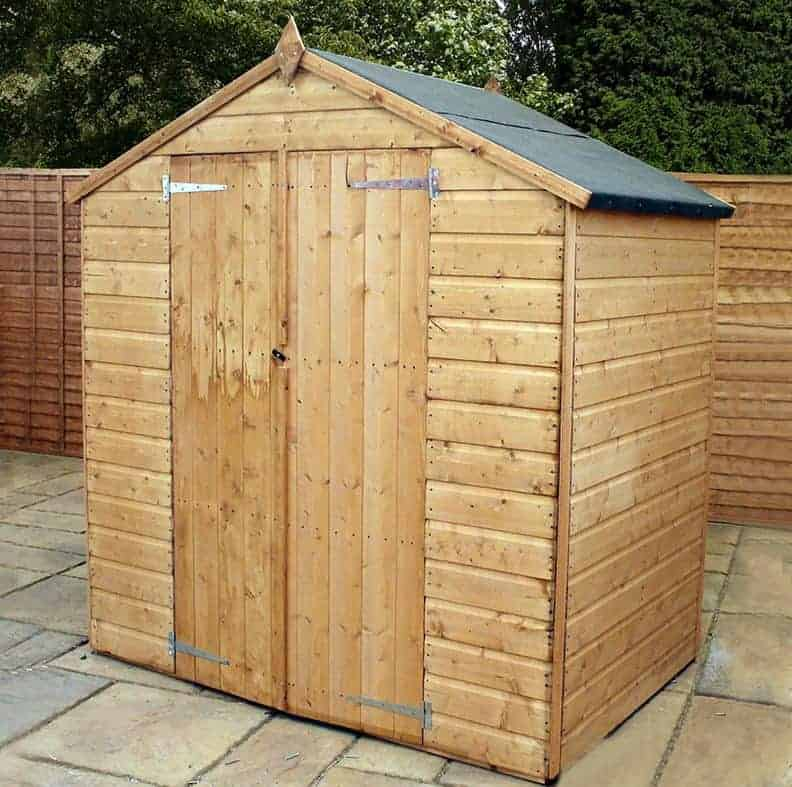 6' x 4' Windsor Somerset Double Door Wooden Garden Shed (1.25m x 1.82m)