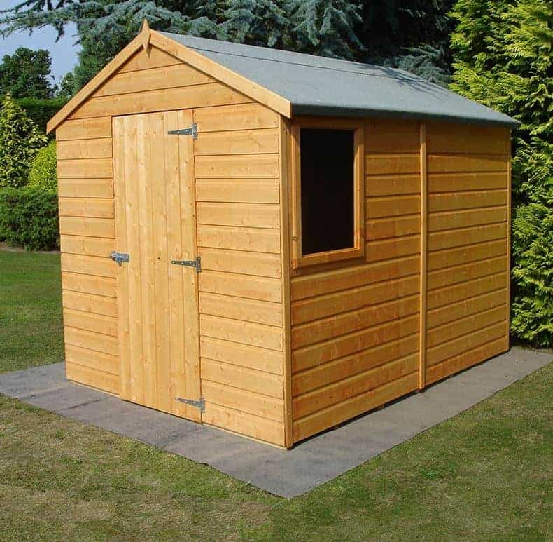8' x 6' Shire Durham Tongue and Groove Apex Wooden Shed (2.38m x 1.79m)