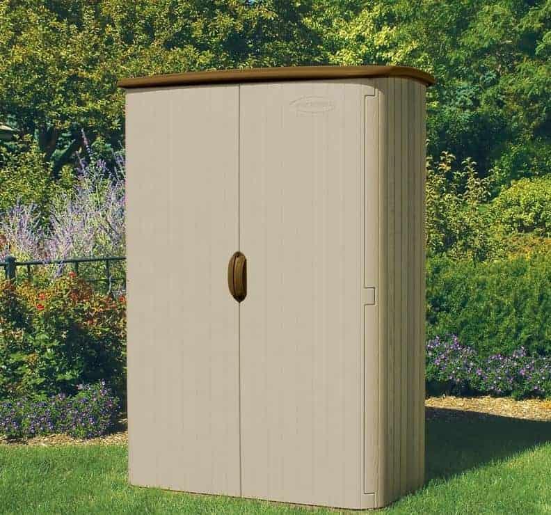 5' x 3' (1.42x0.76m) Suncast Resin Conniston Four Vertical Shed - Plastic Garden Storage
