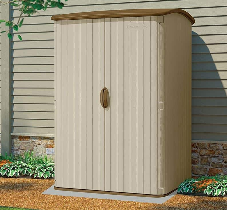 5' x 4' Suncast Resin Conniston Three Vertical Plastic Garden Storage Shed (1.42m 1.24m)