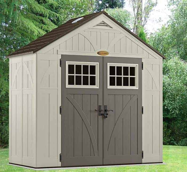 8' x 4' Suncast New Tremont Five Apex Roof Plastic Garden Storage Shed (2.43m x 1.24m)