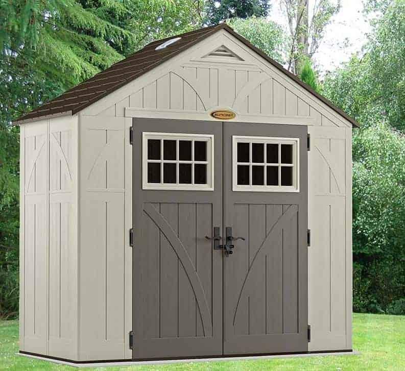 8' x 4' Suncast New Tremont Five Apex Roof Plastic Garden Storage Shed (2.43m x 1.24m)