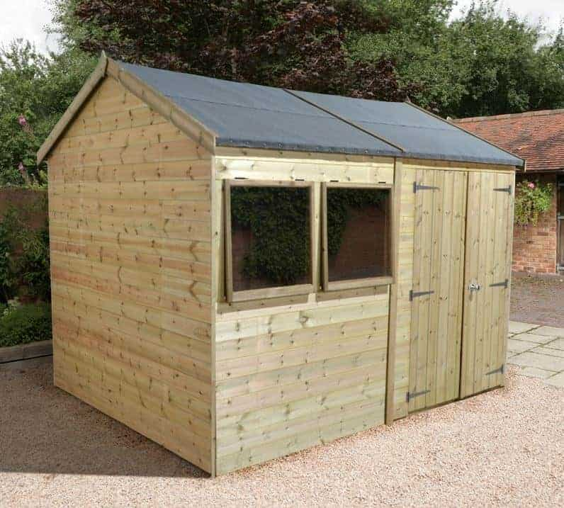 10' x 8' Shed-Plus Champion Heavy Duty Reverse Apex Double Door Shed (3.02m x 2.44m)