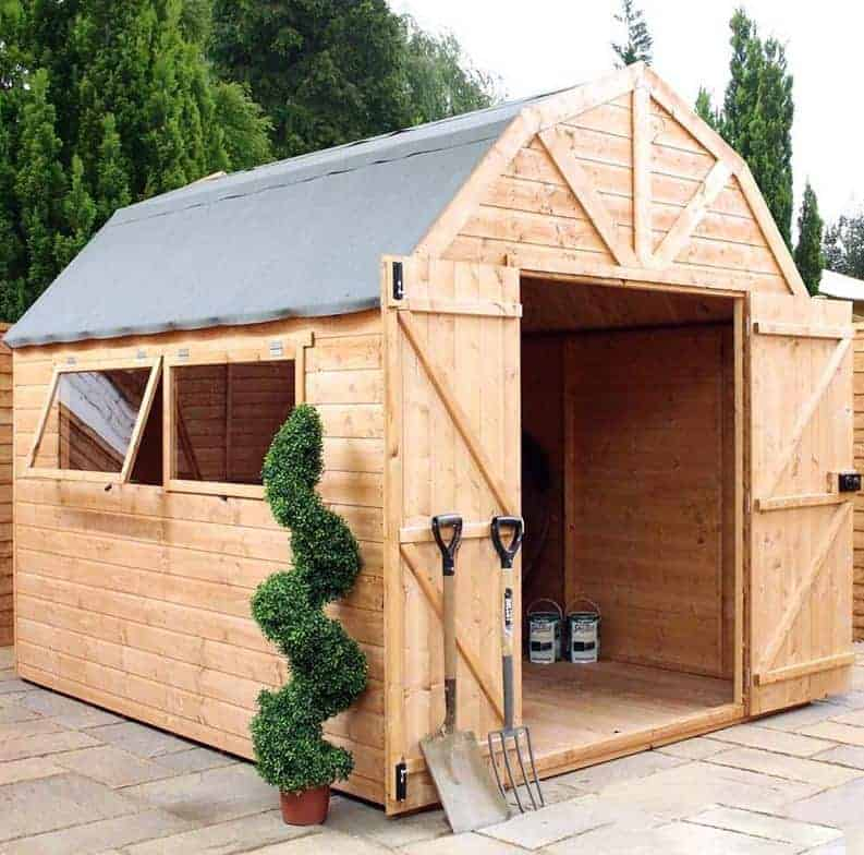 10' x 8' Windsor Groundsman Dutch Barn Wooden Shed (3.06m x 2.57m)