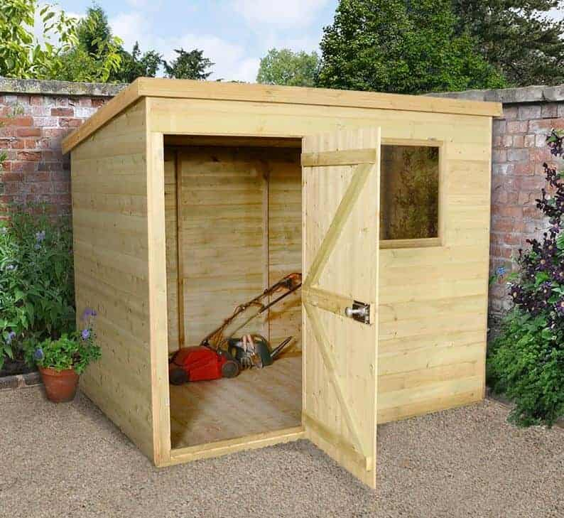 7' x 5' Shed-Plus Champion Heavy Duty Pent Shed - Single Door on Left (2.21m x 1.6m)