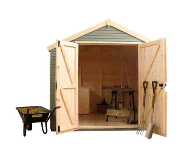 8' x 8' Traditional Apex Security Wooden Garden Shed (2.44x2.44m)
