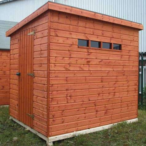 6' x 4' Traditional Pent Security Wooden Garden Shed (1.83m x 1.22m)