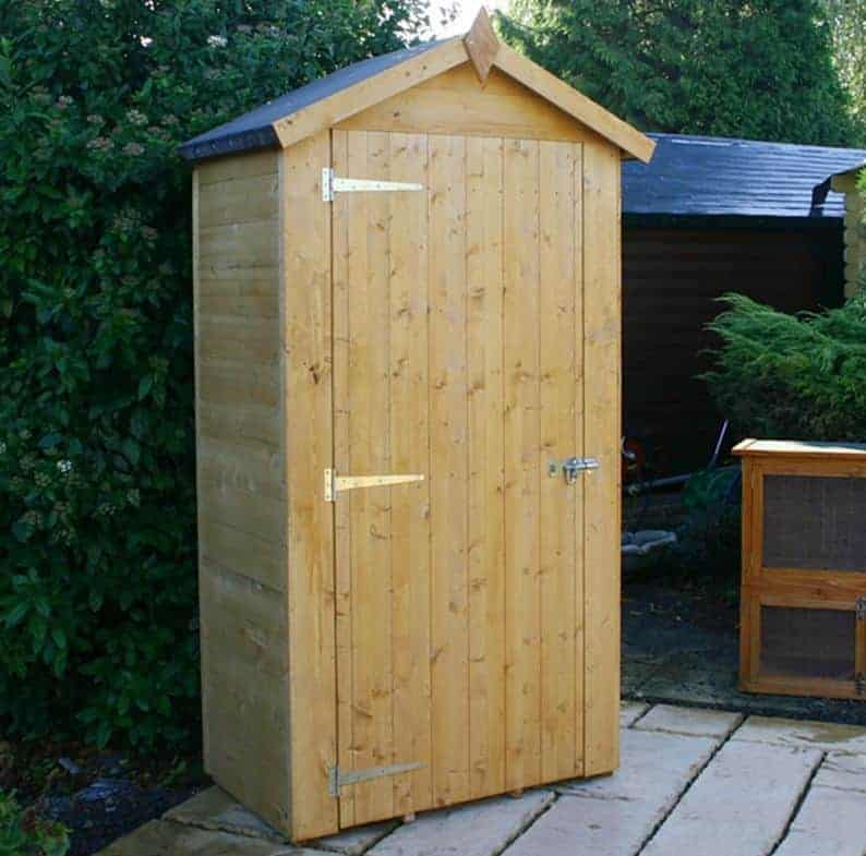 3u00273 x 1u002711 Windsor Wooden Sentry Box Vertical Storage Shed & Vertical Storage Shed - Who Has The Best?