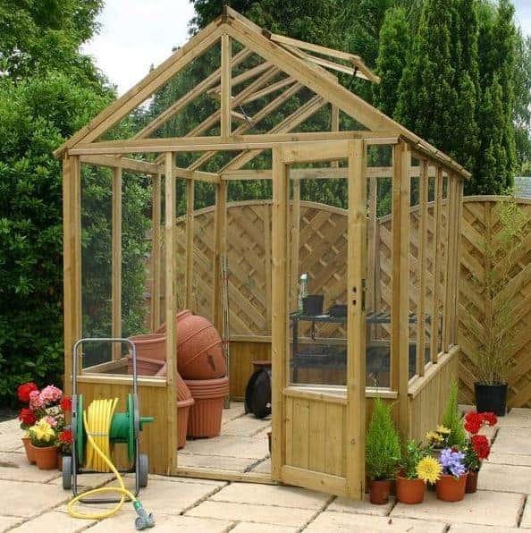 Hartwood 6' x 8' Premium Wooden Greenhouse