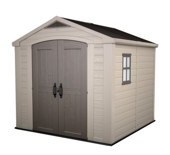 Keter Factor 6 x 6 Lockable Shed for Garden