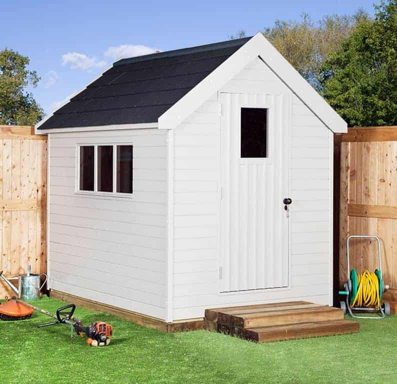 8' x 6' Shed-Plus Champion Heavy Duty Apex Single Door Shed (2.42m x 1.82m)