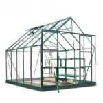 Halls greenhouses - Halls greenhouses Eden Aluminium Magnum Green Greenhouse