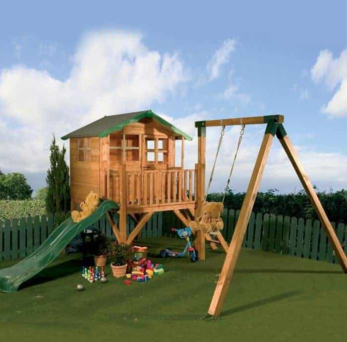 Kids playhouses who has the best kids playhouses for Childrens playhouse with slide and swing