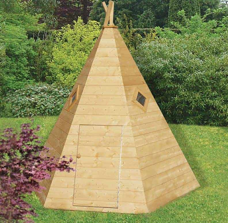 7x6 Shire Wigwam Kids Wooden Playhouse