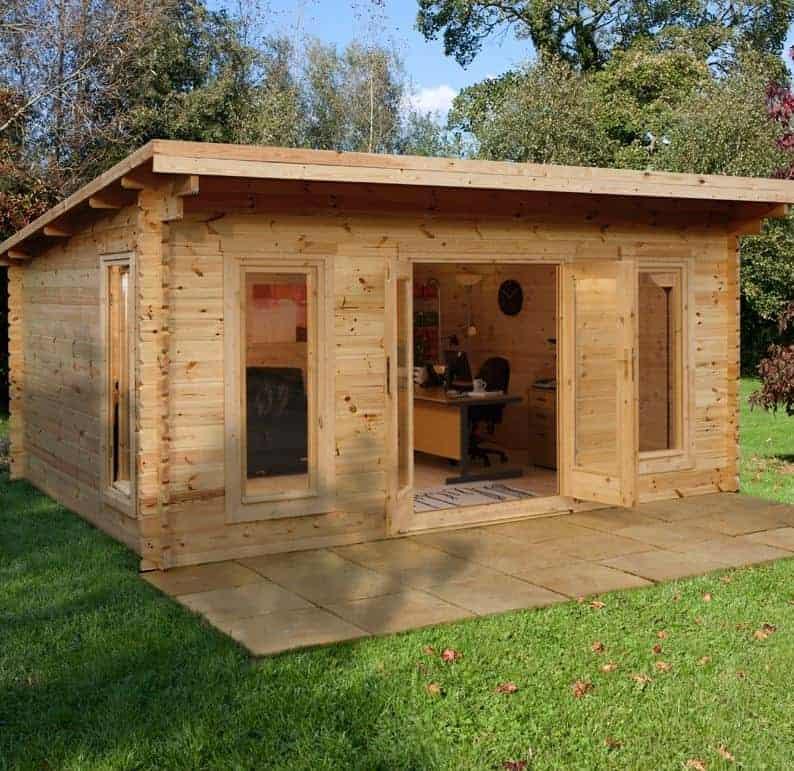Palmako Lea 5.4m x 3.9m Log Cabin Garden Room (44mm)
