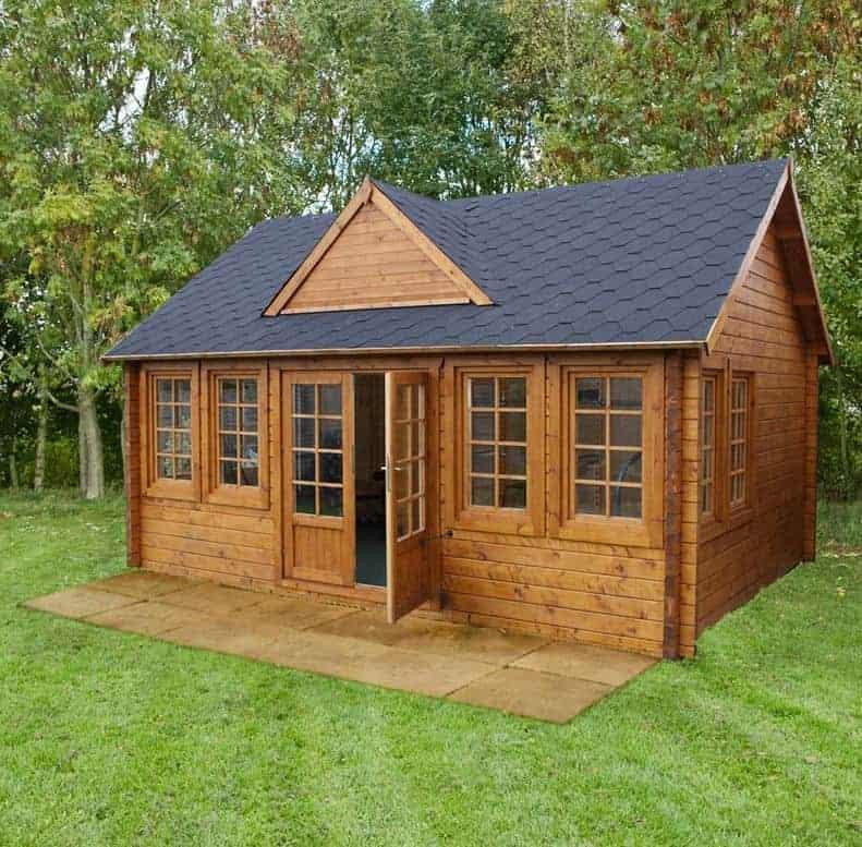 Palmako Claudia 5.4m x 3.9m Log Cabin Garden Room (44mm)