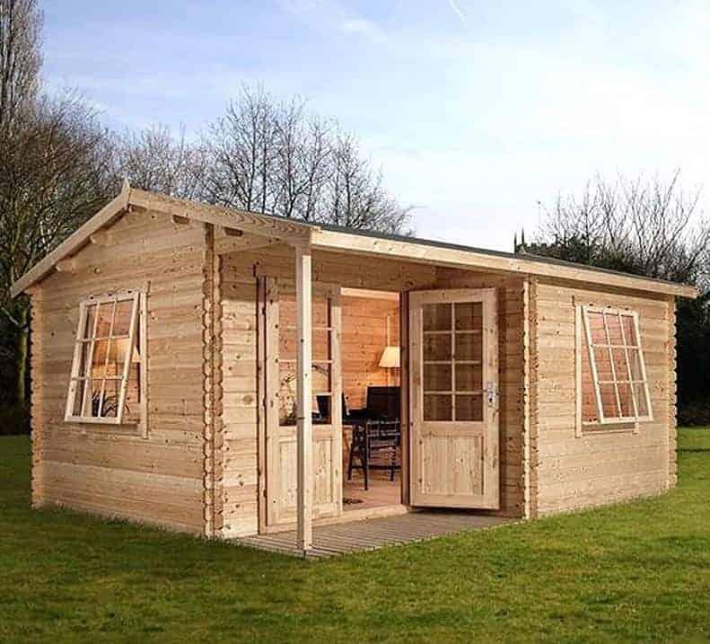 Alpine Colorado 5m x 4m Log Cabin Summerhouse (34mm)