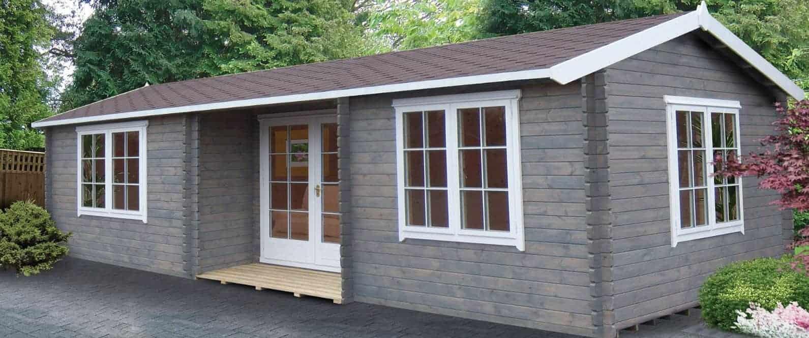 Palmako Sandra 7.5m x 4.8m Log Cabin Summerhouse (44mm)