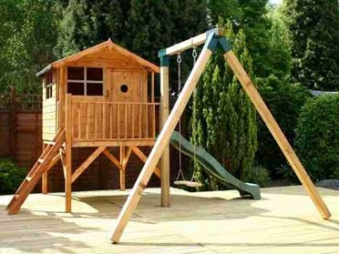 6x5 Windsor Tulip Slide Tower Playhouse