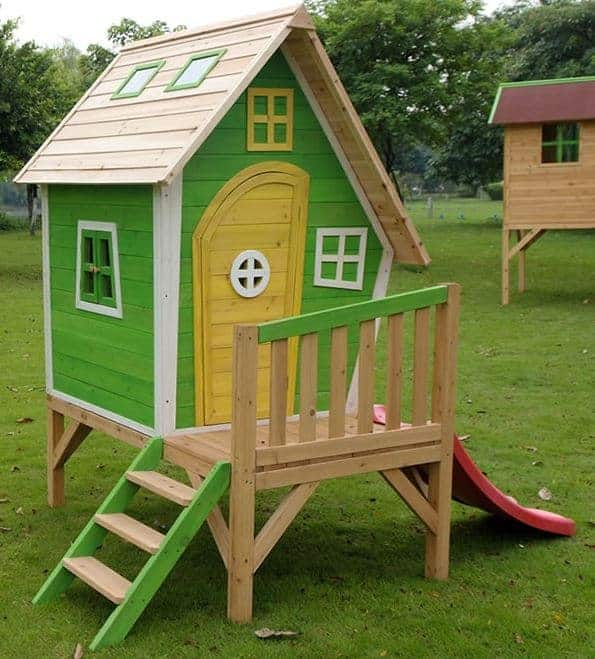 Adley 5' x 5' Jellytot Cottage Tower Playhouse & Slide