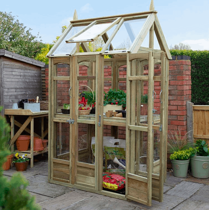 3' x 4' Forest Victorian Walkaround Greenhouse With Auto Vent (0.9 x 1.2m)