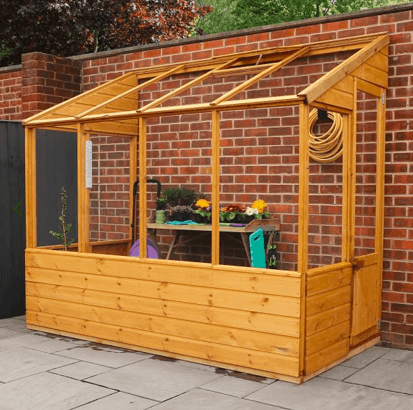 5'x2' Forest Cofton Wooden Small Wall Lean To Mini Greenhouse