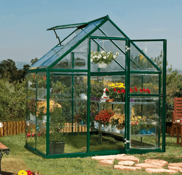 6'x4' Palram Harmony Small Green Polycarbonate Greenhouse (1.8x1.2m)