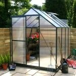 Small Greenhouse - 4 x 6 Waltons Green Extra Tall Polycarbonate Small Greenhouse