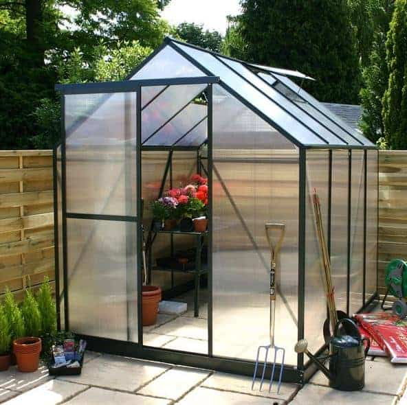 4 X 6 Waltons Green Extra Tall Polycarbonate Small Greenhouse