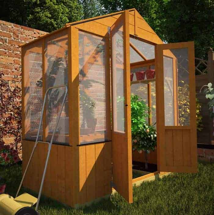 BillyOh 4000 Lincoln Wooden Polycarbonate Mini Greenhouse