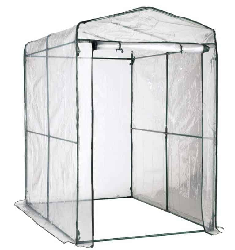SavingPlus Walk In Greenhouse PVC Plastic Garden Grow Green House with 6 or 8 Shelves UK (8 Shelves)