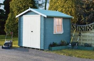 Shire Camelot 2.7m x 2.7m Log Cabin Shed (19mm)