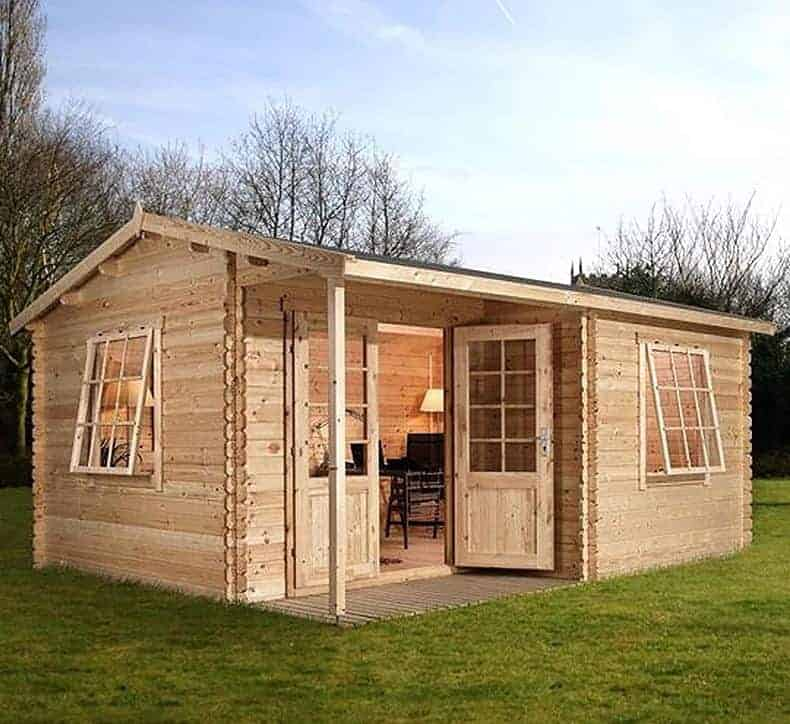 Alpine Colorado 5m x 4m Log Cabin Summerhouse (34mm)