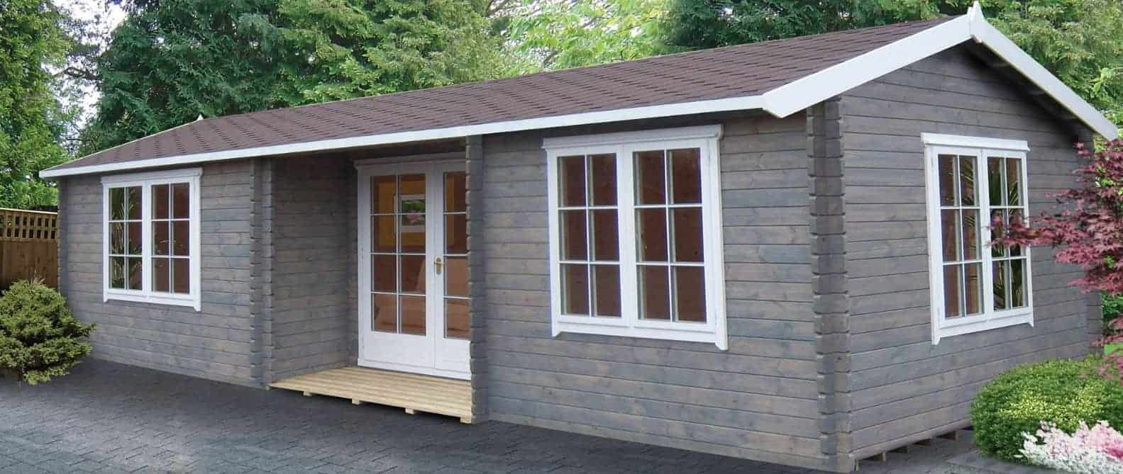 Palmako Sandra 7.5m x 4.8m Log Cabin Summerhouse (44mm)