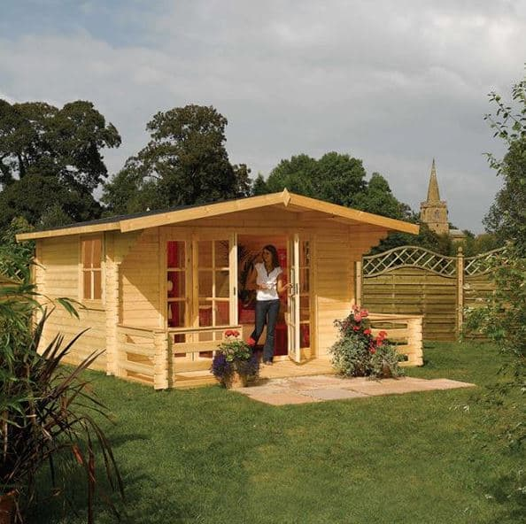 Adley 4m x 4m Lincoln Log Cabin